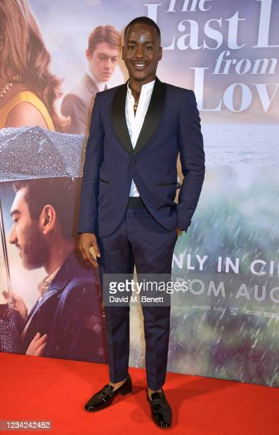 """Ncuti Gatwa attends the UK Premiere of """"The Last Letter From Your Lover"""" at The Ham Yard Hotel on July 27, 2021 in London, England."""