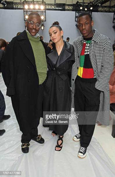 Ncuti Gatwa Charli XCX and Micheal Ward attend the JW Anderson show during London Fashion Week February 2020 at Yeomanry House on February 17 2020 in...