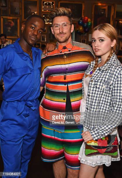Ncuti Gatwa Henry Holland and Aimee Lou Wood attend a pride brunch hosted by House of Holland and The London EDITION in aid of Albert Kennedy Trust...