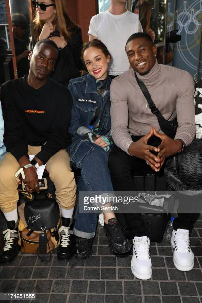 Ncuti Gatwa Rose Williams and Ovie Soko attend the House of Holland show during London Fashion Week September 2019 at Gasholder Park on September 14...