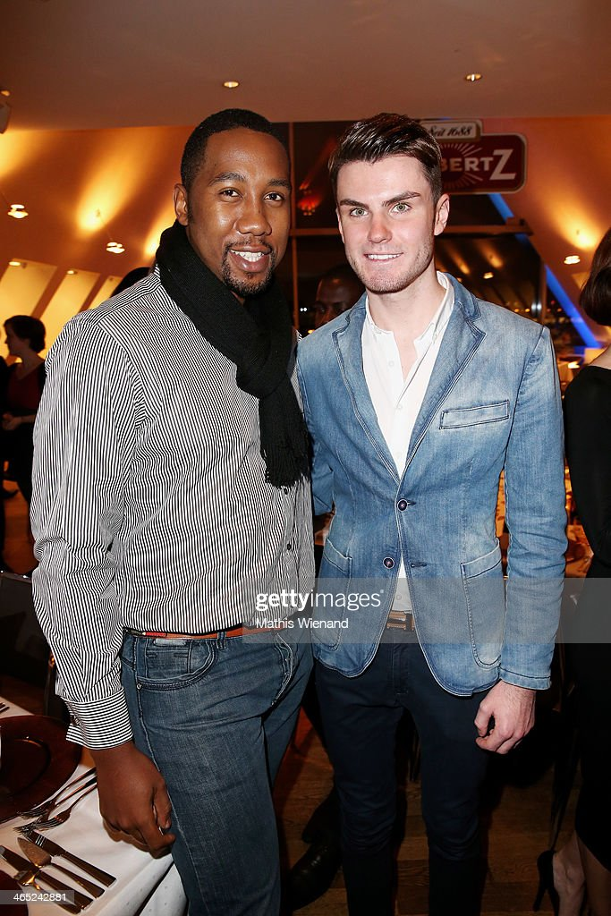 Ndaba Mandela and Paul-Henry Duval attend the Lambertz monday night pre-dinner on January 26, 2014 in Cologne, Germany.