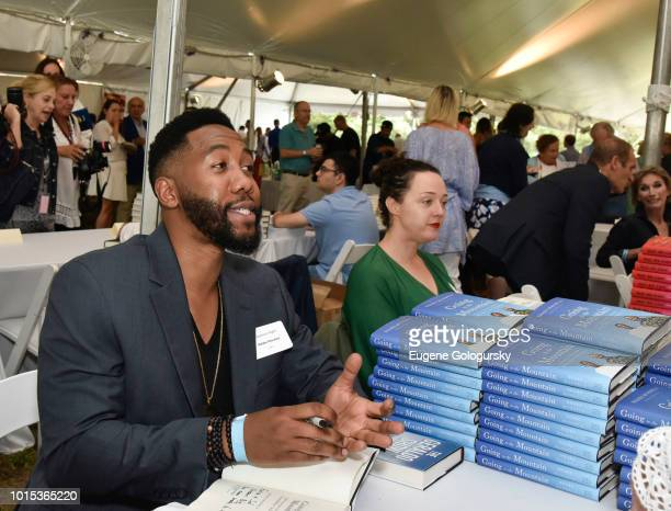 Ndaba Mandela attends Authors Night At East Hampton Library on August 11 2018 in East Hampton New York