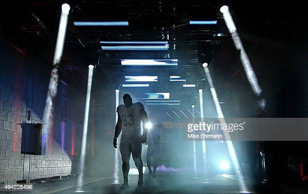 Ndamukong Suh of the Miami Dolphins takes the field during a game against the Houston Texans at Sun Life Stadium on October 25 2015 in Miami Gardens...