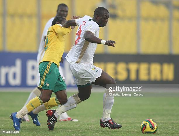 Ndiaye during the CAF 2008 African Cup of Nations Group D match between Senegal and South Africa at the Baba Yara Stadium in Kumasi Ghana West Africa