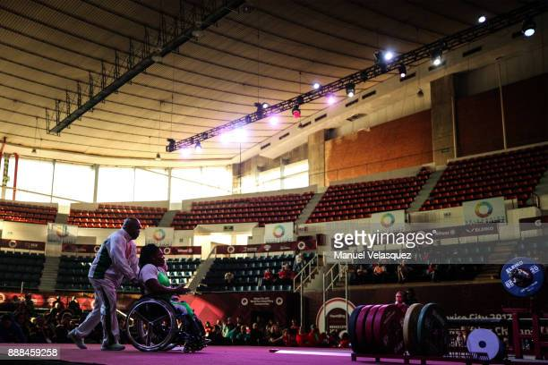 Ndidi Nwosu of Nigeria enter to the stage during the Women's Upt to 73Kg Group A Category as part of the World Para Powerlifting Championship Mexico...