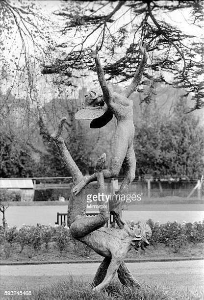 ndine a naked girl being dragged by her heels under the water of pond placed on the spacious lawns of Banacle Edge Witley Surrey the home of...