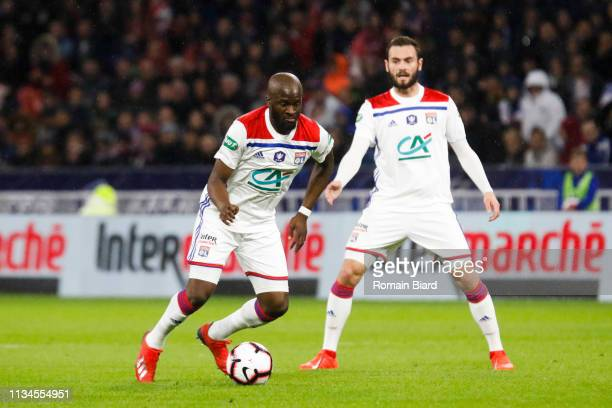 Ndombele Alvaro Tanguy of Lyon during the French Cup match between Lyon and Rennes at Groupama Stadium on April 2 2019 in Lyon France