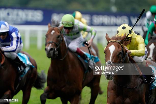 Ndrea Atzeni riding Cape Byron win The John Guest Racing Bengough Stakes at Ascot Racecourse on October 05, 2019 in Ascot, England.
