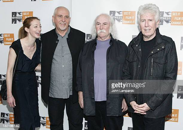 Neabh Flynn, Peter Gabriel, David Crosby and Graham Nash attend the 7th Annual Focus for Change Benefit for WITNESS at Roseland Ballroom on November...