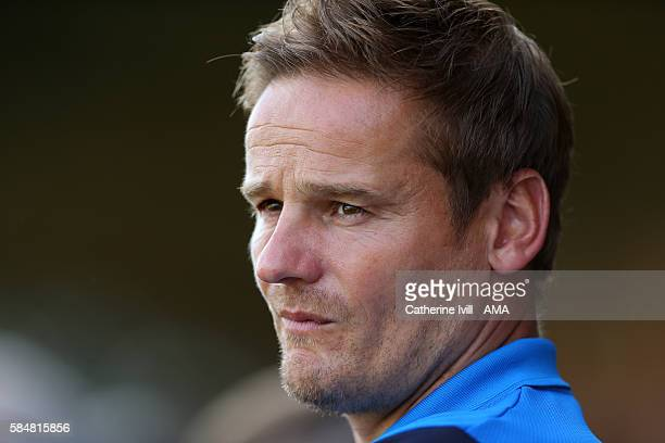 Neal Ardley manager of AFC Wimbledon during the PreSeason Friendly match between AFC Wimbledon and Crystal Palace at The Cherry Red Records Stadium...
