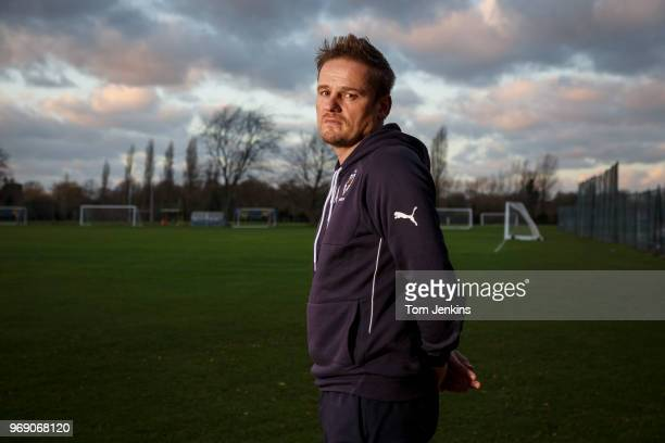Neal Ardley manager of AFC Wimbledon poses for a portrait at the club's training ground in New Malden on January 4th 2018 in New MaldenSurreyEngland