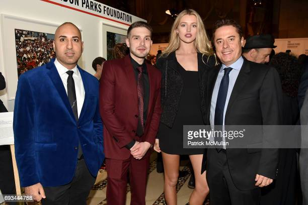 Neal Batra Alex Soros Sophie Longford and Justin Etzin attend the Gordon Parks Foundation Awards Dinner Auction at Cipriani 42nd Street on June 6...