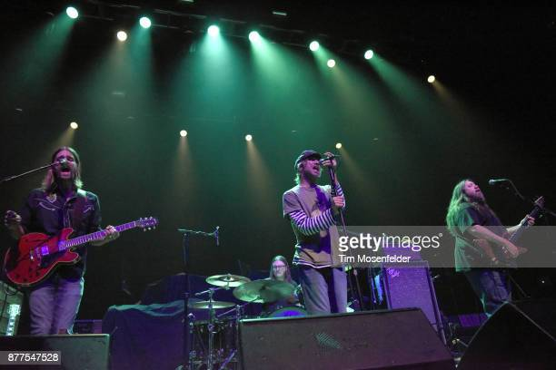 Neal Casal Duane Trucks Todd Snider and Dave Schools of Hard Working Americans perform at the Fox Theater on November 17 2017 in Oakland California
