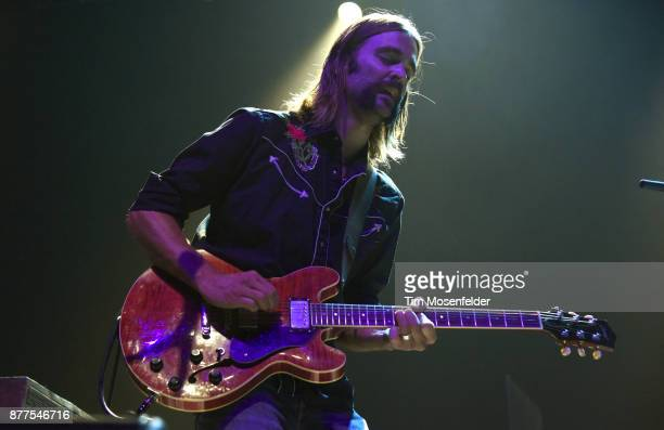 Neal Casal of Hard Working Americans performs at the Fox Theater on November 17 2017 in Oakland California