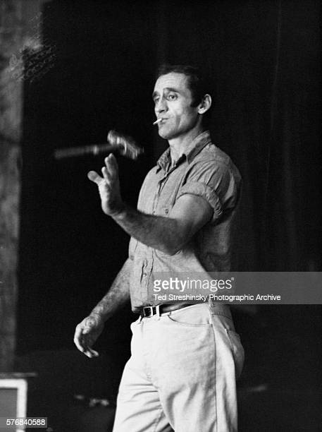 Neal Cassady who was the basis for the hero of Jack Kerouac's On the Road Dean Moriarty and later one of the Merry Pranksters flips a sledgehammer...
