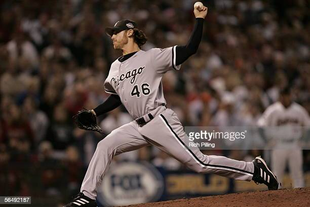 Neal Cotts of the Chicago White Sox pitches during Game Four of the Major League Baseball World Series against the Houston Astros at Minute Maid Park...