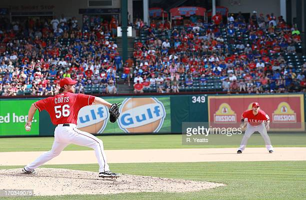 Neal Cotts of the Texas Rangers pitches against the Kansas City Royals at Rangers Ballpark in Arlington on June 1 2013 in Arlington Texas