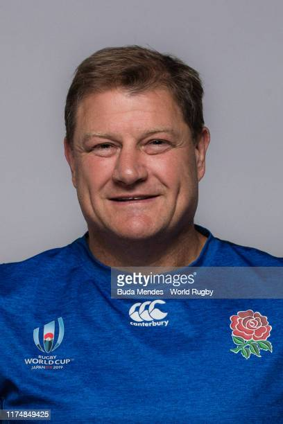 Neal Hatley of The England backroom staff poses for a portrait during the England Rugby World Cup 2019 squad photo call on September 15, 2019 in...