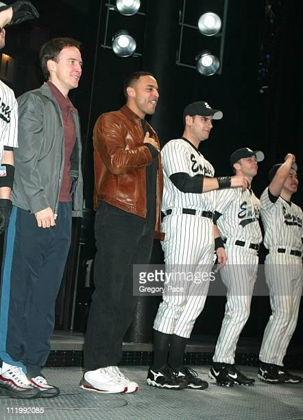 Neal Huff, Daniel Sunjata , Gene Gabriel and David Eigenberg at the curtain call.