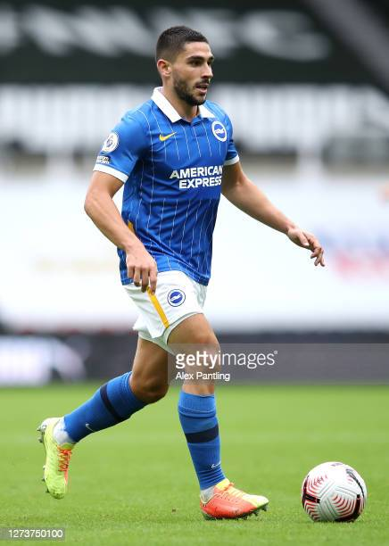 Neal Maupay of Birghton during the Premier League match between Newcastle United and Brighton Hove Albion at St James Park on September 20 2020 in...