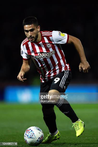 Neal Maupay of Brentford in action during the Sky Bet Championship match between Brentford and Birmingham City at Griffin Park on October 2 2018 in...