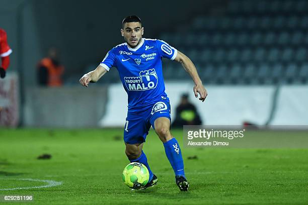 Neal Maupay of Brest during the French LIgue 2 match between Nimes and Brest at Stade des Costieres on December 9 2016 in Nimes France