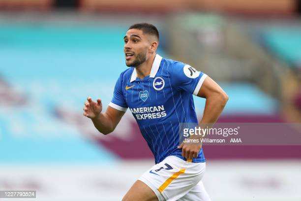 Neal Maupay of Brighton and Hove Albion during the Premier League match between Burnley FC and Brighton Hove Albion at Turf Moor on July 26 2020 in...