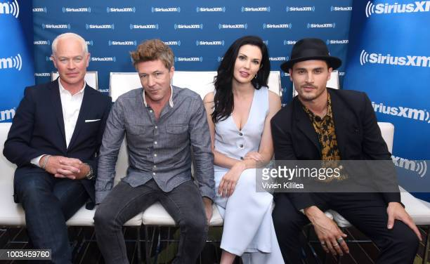 Neal McDonough Aidan Gillen Laura Mennell and Michael Malarkey attend SiriusXM's Entertainment Weekly Radio Broadcasts Live From Comic Con in San...