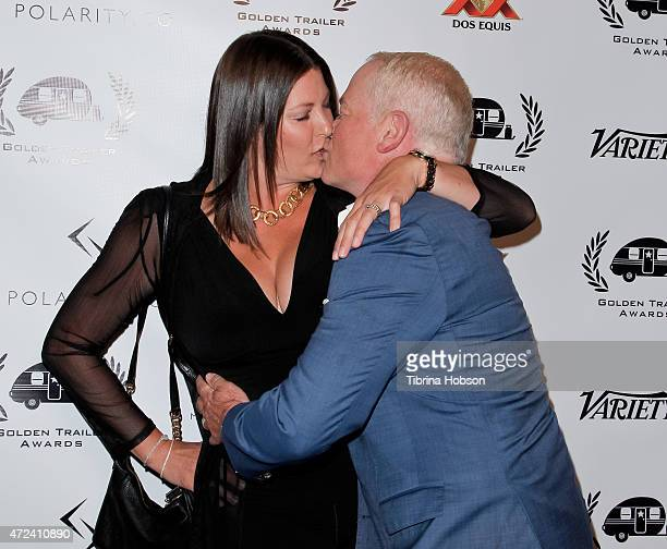 Neal McDonough and his wife Ruve McDonough attend the 16th annual Golden Trailer Awards at Saban Theatre on May 6 2015 in Beverly Hills California