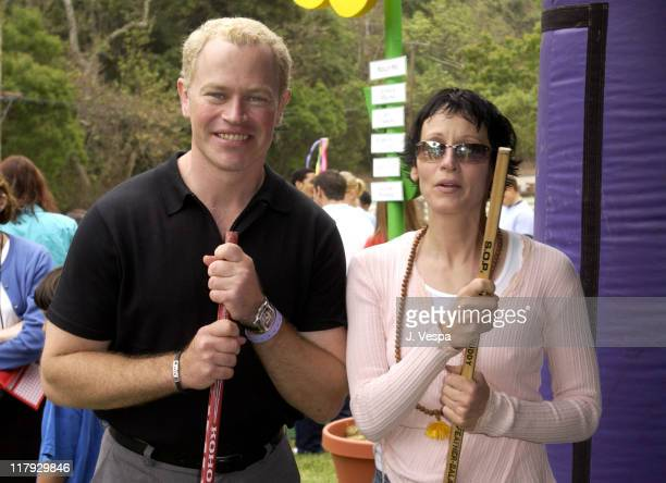 Neal McDonough and Lori Petty at The Target A Time for Heroes Celebrity Carnival Benefitting the Elizabeth Glaser Pediatric AIDS Foundation