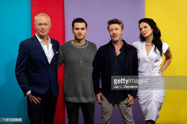Neal McDonough Michael Malarkey Aidan Gillen and Laura Mennell of 'Project Blue Book' are photographed for Los Angeles Times at ComicCon...