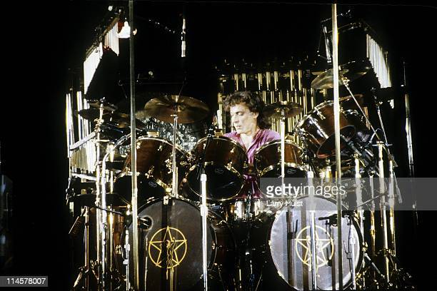 Neal Peart playing with 'Rush ' performing at Oakland Coliseum in Oakland California on June 6 1981