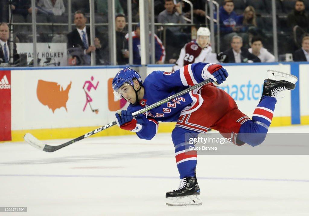 Colorado Avalanche v New York Rangers : News Photo