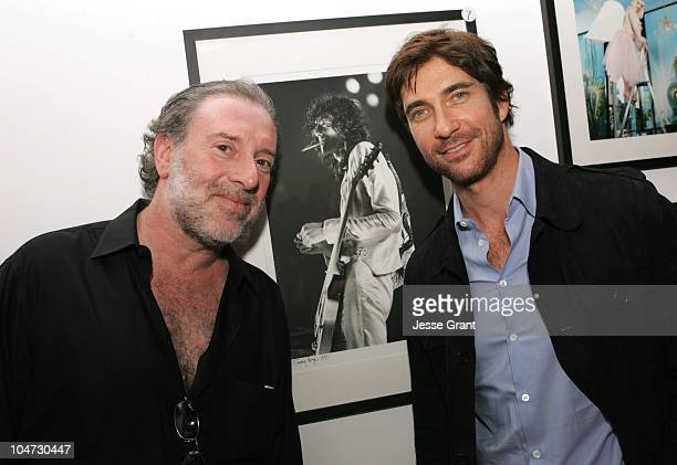 Neal Preston and Dylan McDermott during Rare Photographs Auctioned to Benefit the Violence Policy Center at Bergamot Station in Santa Monica,...