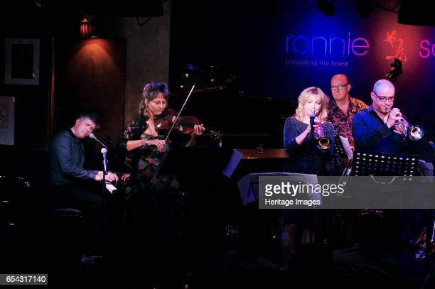Neal Richardson Helen SherrahDavies Sue Richardson Nigel Thomas and Mark White July 2016 Ronnie Scotts Soho London Artist Brian OConnor