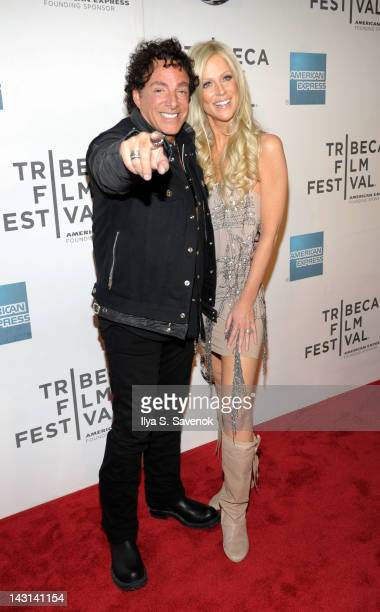 Neal Schon and Michaele Salahi attend the premiere of Don't Stop Believin' Everyman's Journey during the 2012 Tribeca Film Festival at BMCC Tribeca...