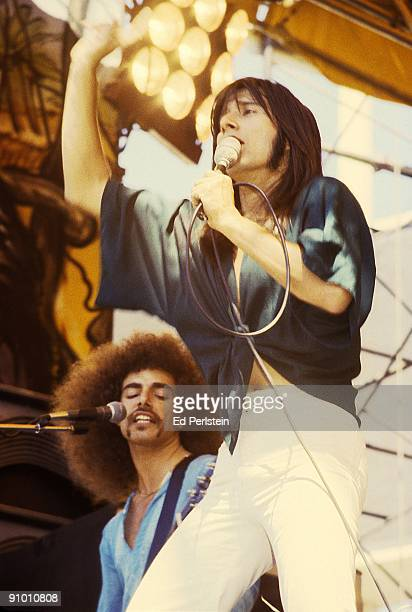 Neal Schon and Steve Perry perform with Jouney at the Oakland Stadium on September 2 1978 in Oakland California