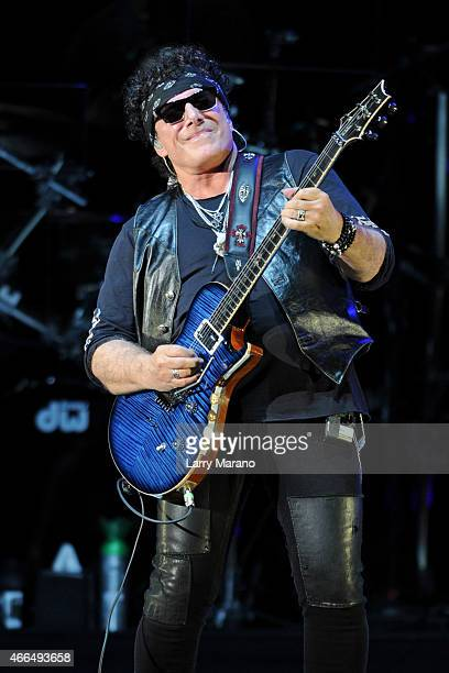 Neal Schon of Journey performs at Coral Sky Amphitheatre on March 15 2015 in West Palm Beach Florida