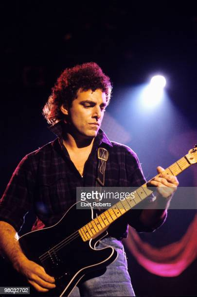 Neal Schon of Journey performs on stage at Meadowlands on May 5 1983 in East Rutherford New Jersey