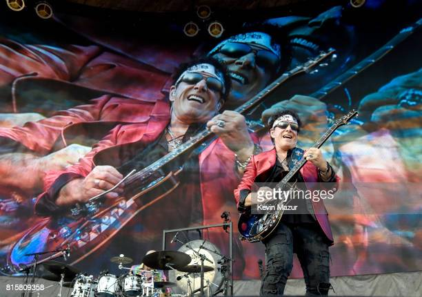 Neal Schon of Journey performs onstage during The Classic West at Dodger Stadium on July 16 2017 in Los Angeles California