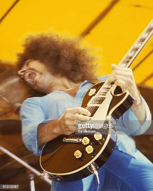 Neal Schon performs with Jouney at the Oakland Stadium on September 2 1978 in Oakland California