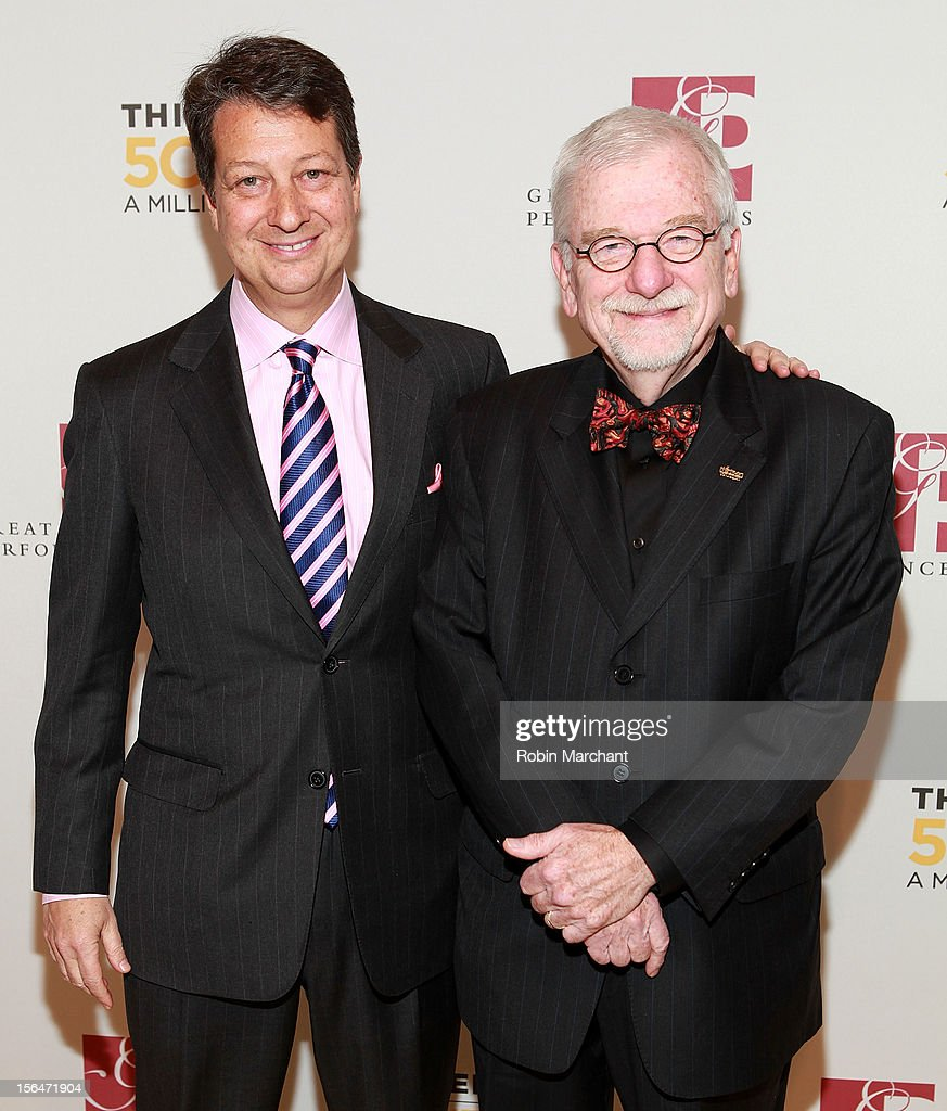 Neal Shapiro (L) and Bill Baker attends the THIRTEEN 50th Anniversary Gala Salute at David Koch Theatre at Lincoln Center on November 15, 2012 in New York City.