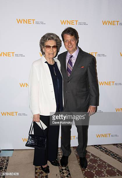 Neal Shapiro and Rosalind P Walter attend the 2015 WNET Annual Gala at Cipriani 42nd Street on June 9 2015 in New York City