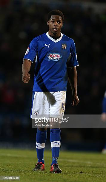 Neal Trotman of Chesterfield in action during the npower League Two match between Chesterfield and Northampton Town at the Proact Srtadium on January...