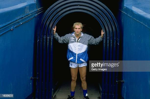 Neale Cooper of Rangers stands in the tunnel entrance before the Skol Cup final against Aberdeen at Hampden Park in Glasgow Scotland Rangers won the...