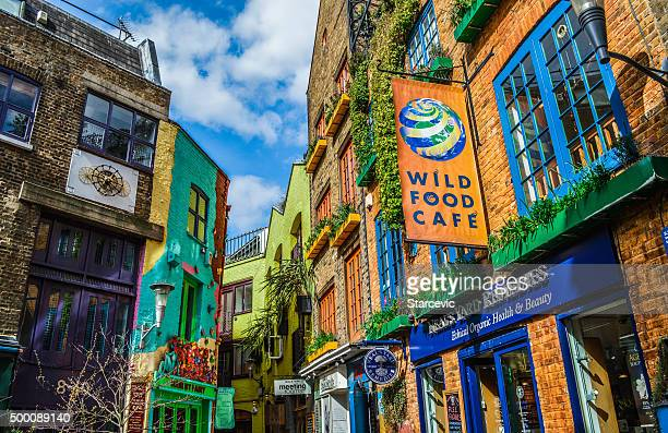 neal's yard in covent garden - london, uk - urban renewal stock pictures, royalty-free photos & images