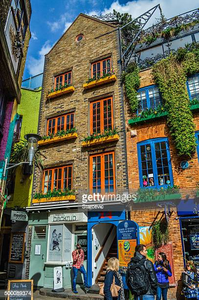 neal's yard in covent garden - london, uk - covent garden stock pictures, royalty-free photos & images