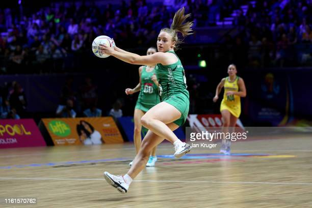 Neamh Woods of Northern Ireland controls the ball during the preliminaries stage one match between Australia and Northern Ireland at M&S Bank Arena...