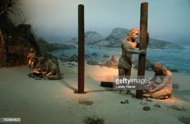 Neanderthal display at the Museum of History, Tsim Sha Tsui.