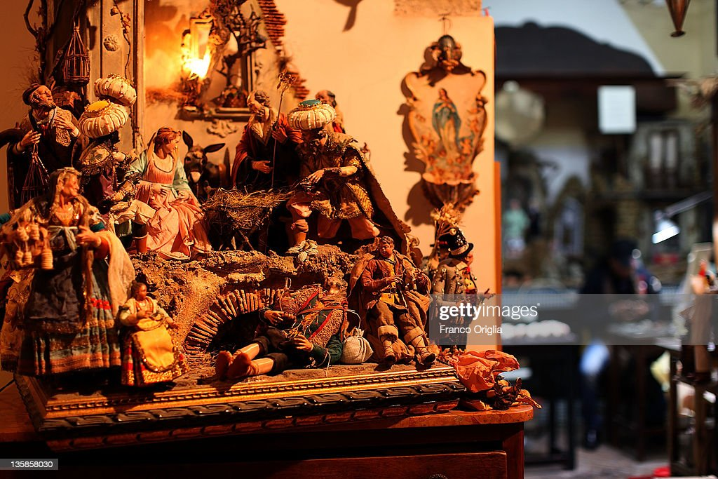 Neapolitan Christmas Nativity  Figurines : News Photo